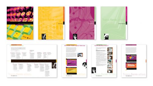 Shiere Melin, graphic design, paper company, marketing materials, user manual